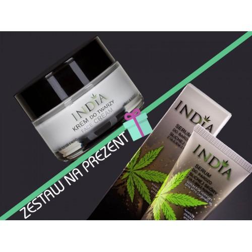 Krem do twarzy na dzień i na noc + serum do twarzy India Cosmetics