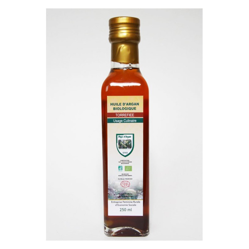 Olejek arganowy spożywczy - butelka szklana 250 ml