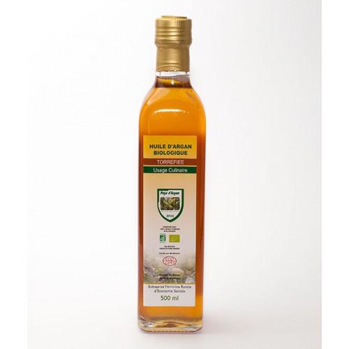 Olejek arganowy spożywczy - butelka szklana 500 ml