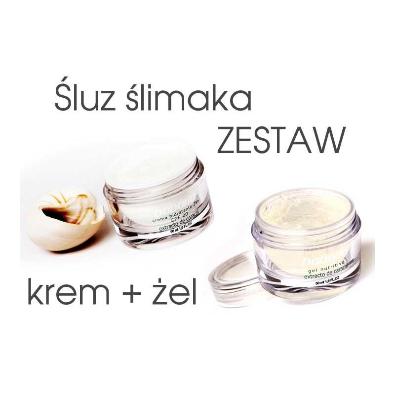 Zestaw KREM + ŻEL z ekstraktem ze śluzu ślimaka RABAT 5%